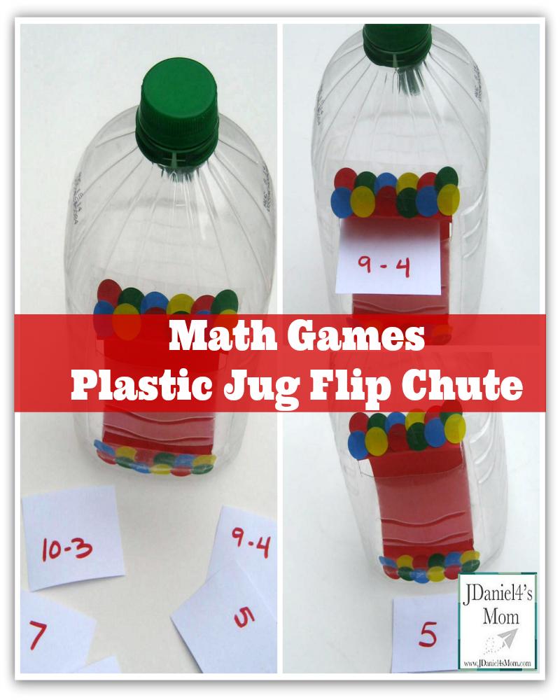 Math Games- Plastic Jug Flip Chute