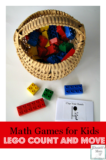 Math Games for Kids- LEGO Count and Move