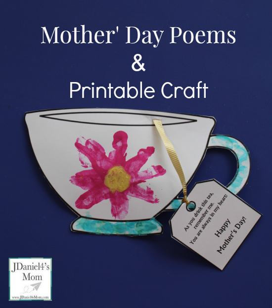 Mother's Day Poems and Printable Teacup Craft