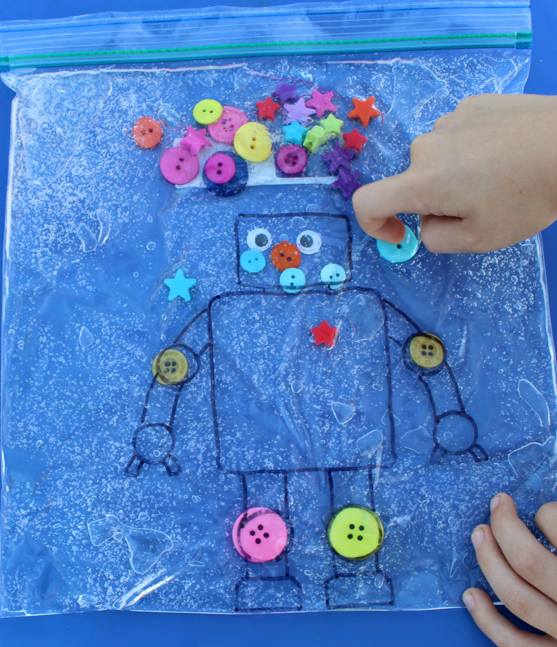 Robot Sensory Bags -Giving the Robot Button Joints