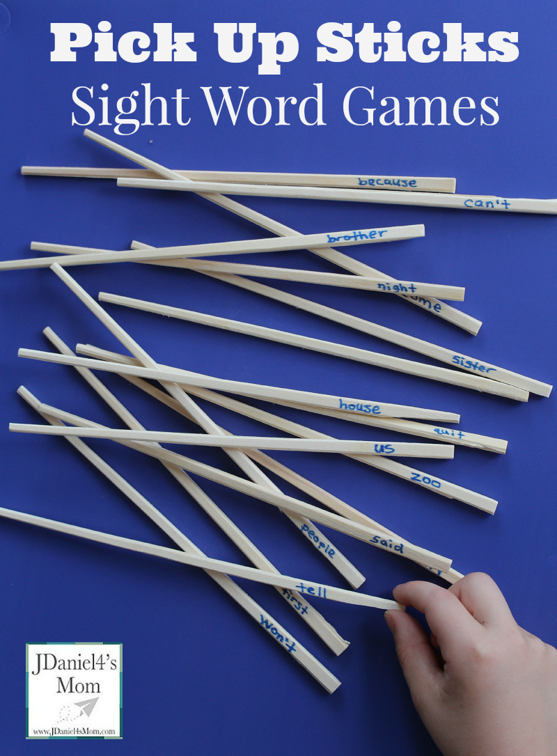 Pick Up Sticks Sight Words Games
