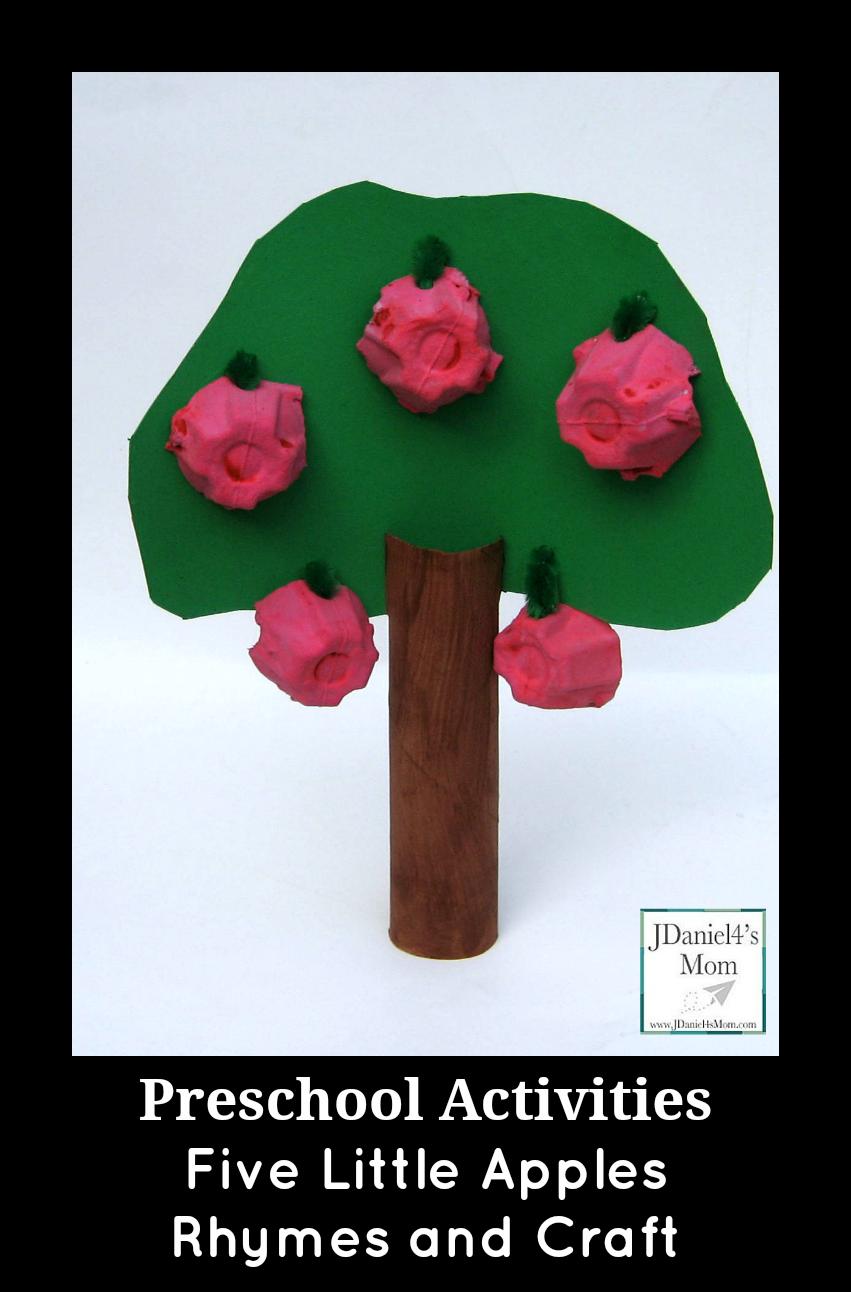 Preschool Activities- Five Little Apples