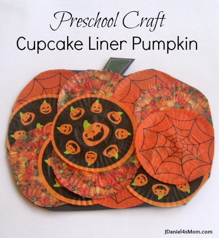 Preschool Halloween Craft Cupcake Liner