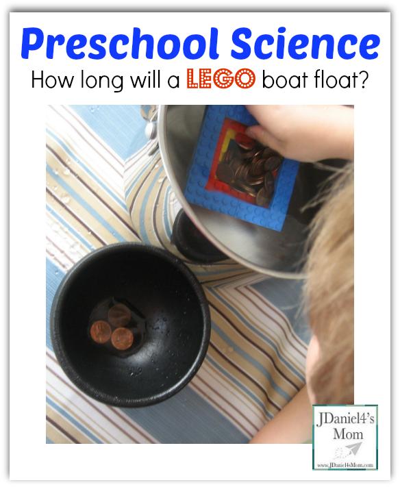 Preschool Science- How long will you LEGO Boat Float?