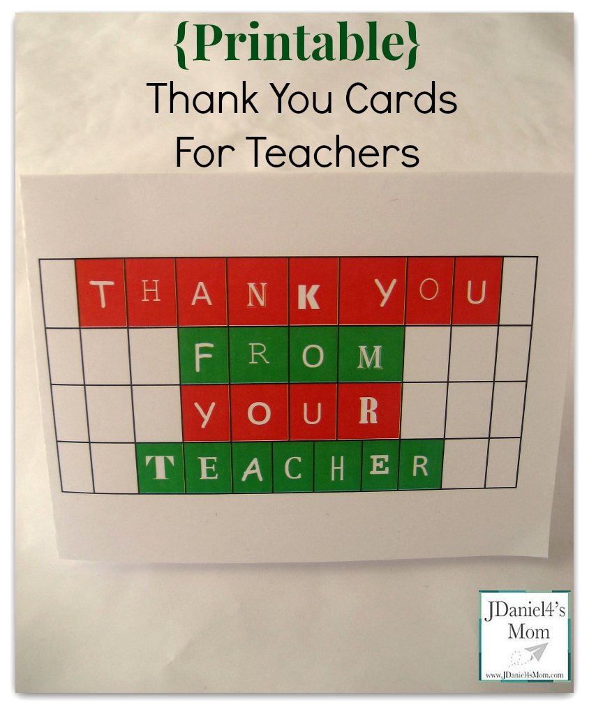 Printable thank you cards for teachers m4hsunfo