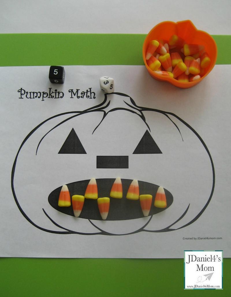 Printable Math Worksheet- Pumpkin Teeth