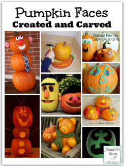 Pumpkin Faces Created and Carved