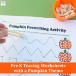 Pre K Tracing Worksheets with a Pumpkin Theme -These are great way to work on fine motor skills.
