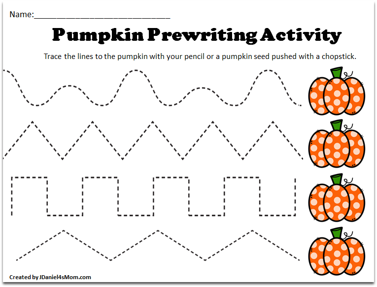 FREE Printable Fall Tracing Worksheet!