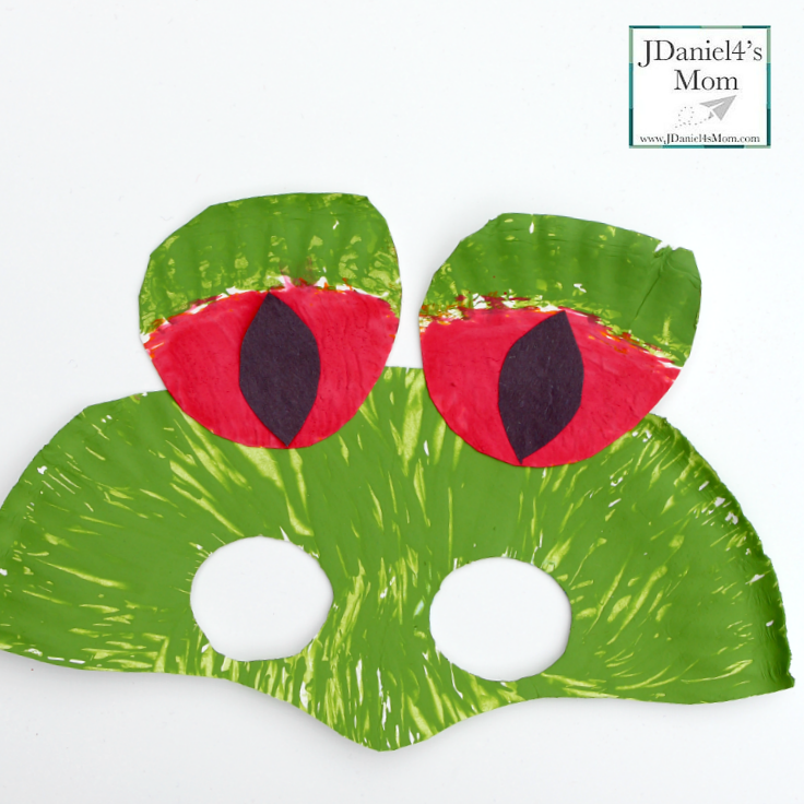 Red Eyed Tree Frog Rainforest Paper Plate Mask