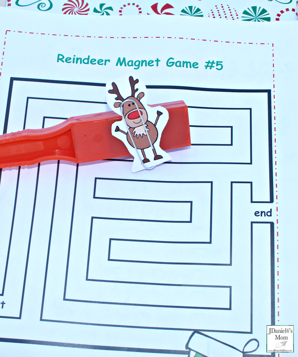 Reindeer Games with Magnets - Moving the reindeer and magnet over the maze.