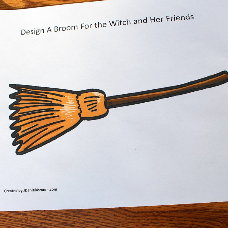 Room on the Broom STEM Building Activity - Broom Building Mat