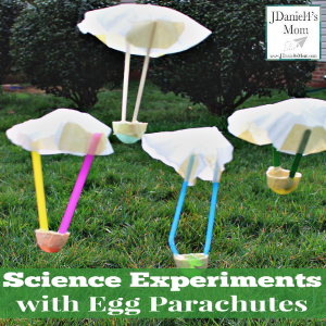 Science Experiments with Egg Parachutes