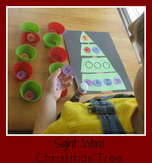 Sight Word Christmas Tree