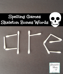 Spelling games for Skeleton Bones