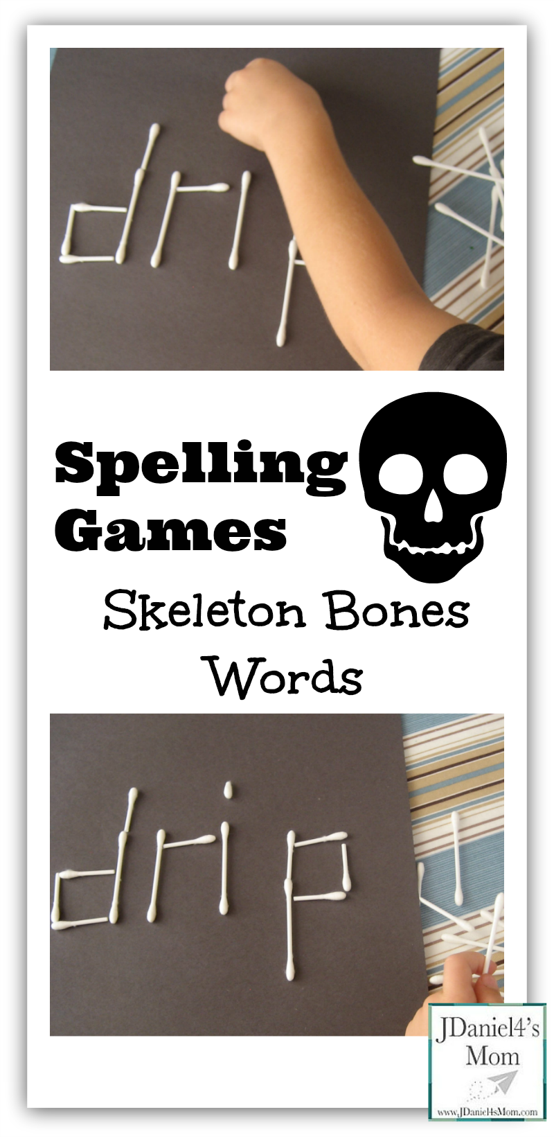 Spelling Games Skeleton Bones Words