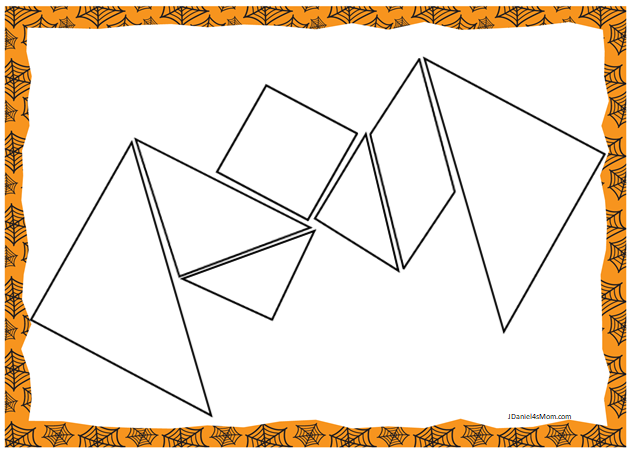 photo about Tangram Template Printable referred to as Halloween Themed Printable Tangram Puzzles - JDaniel4s Mother