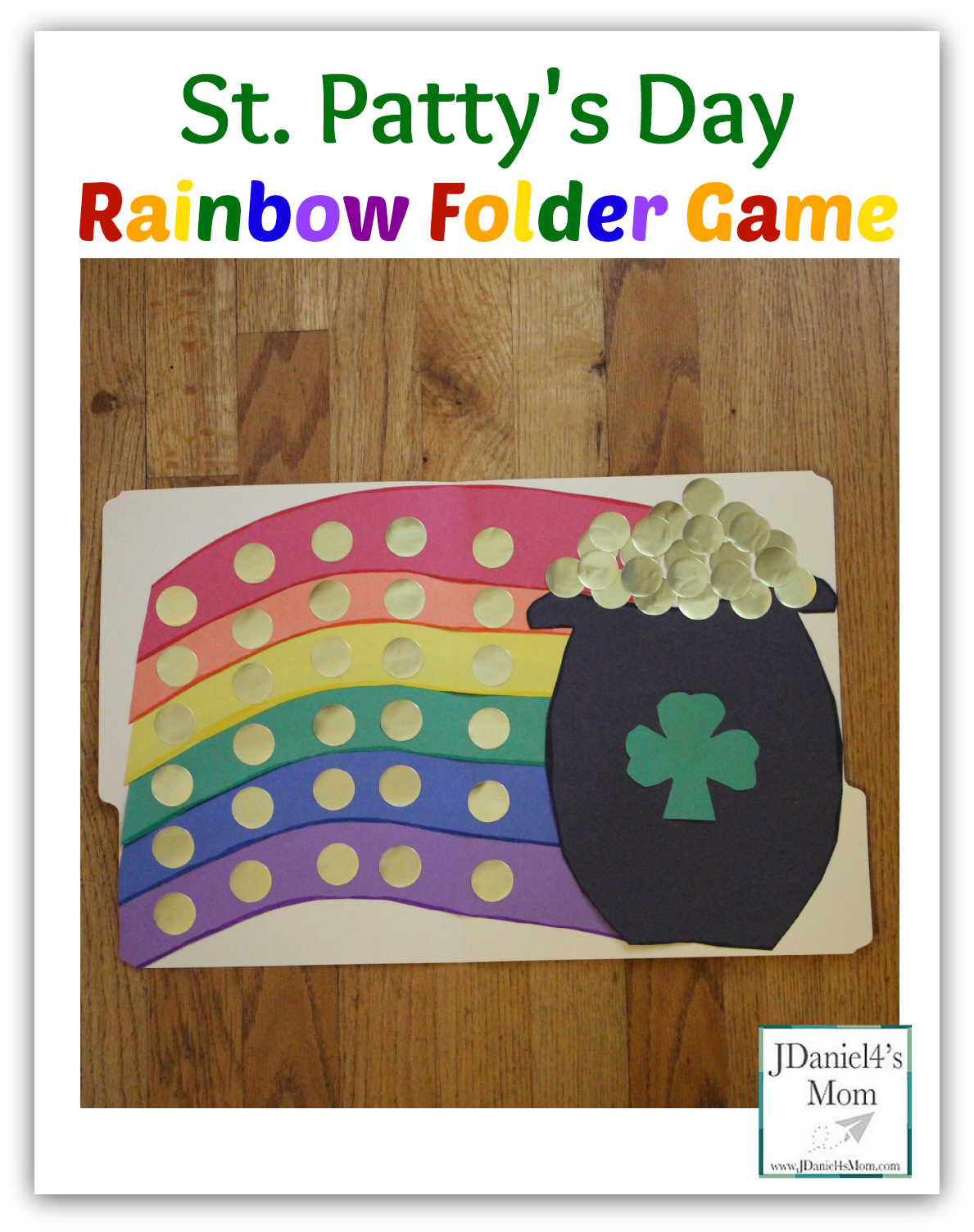 st pattys day rainbow folder game