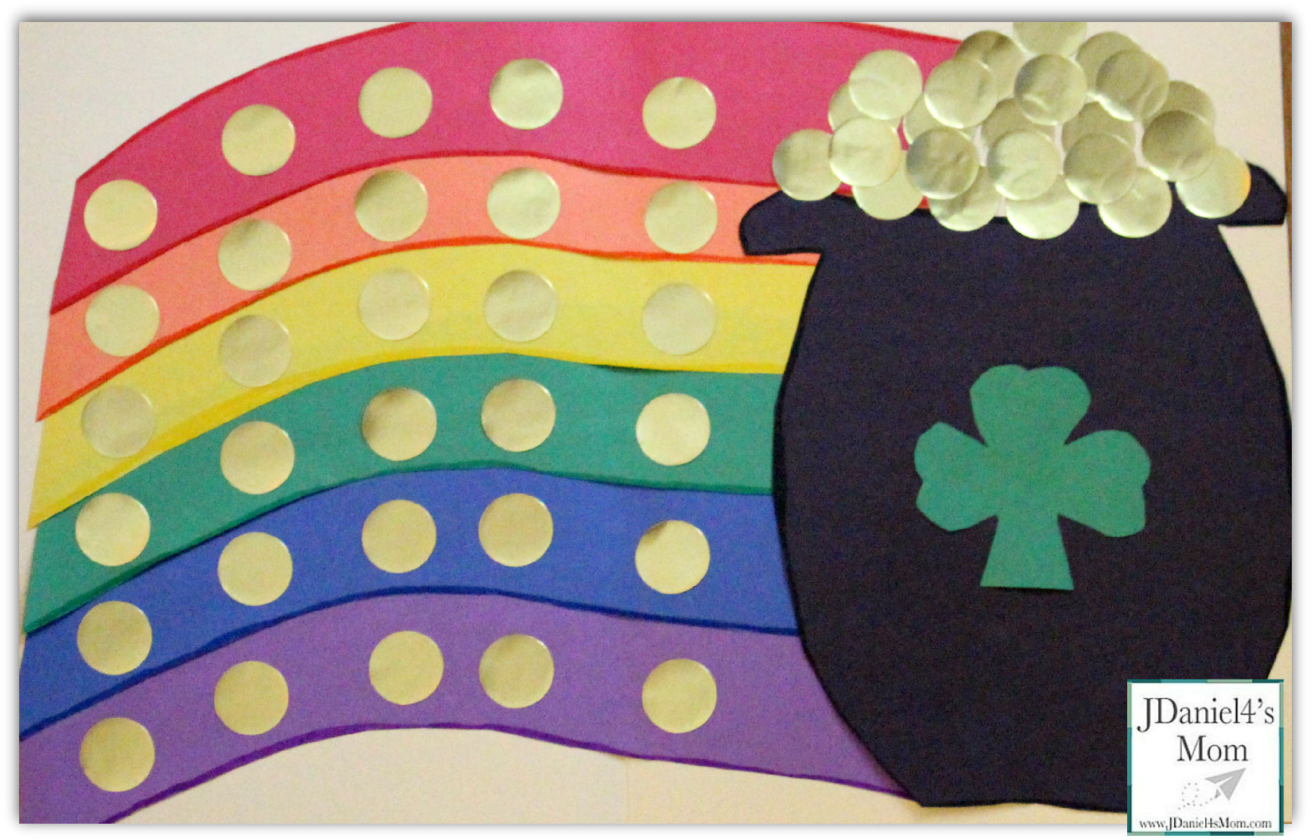 St. Pattys Day Rainbow Folder Game