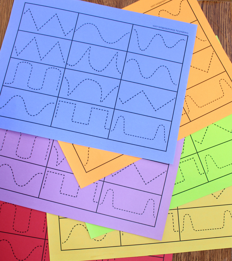 Llama Llama Create a Quilt with Tracing Patches Activity - Colored Paper