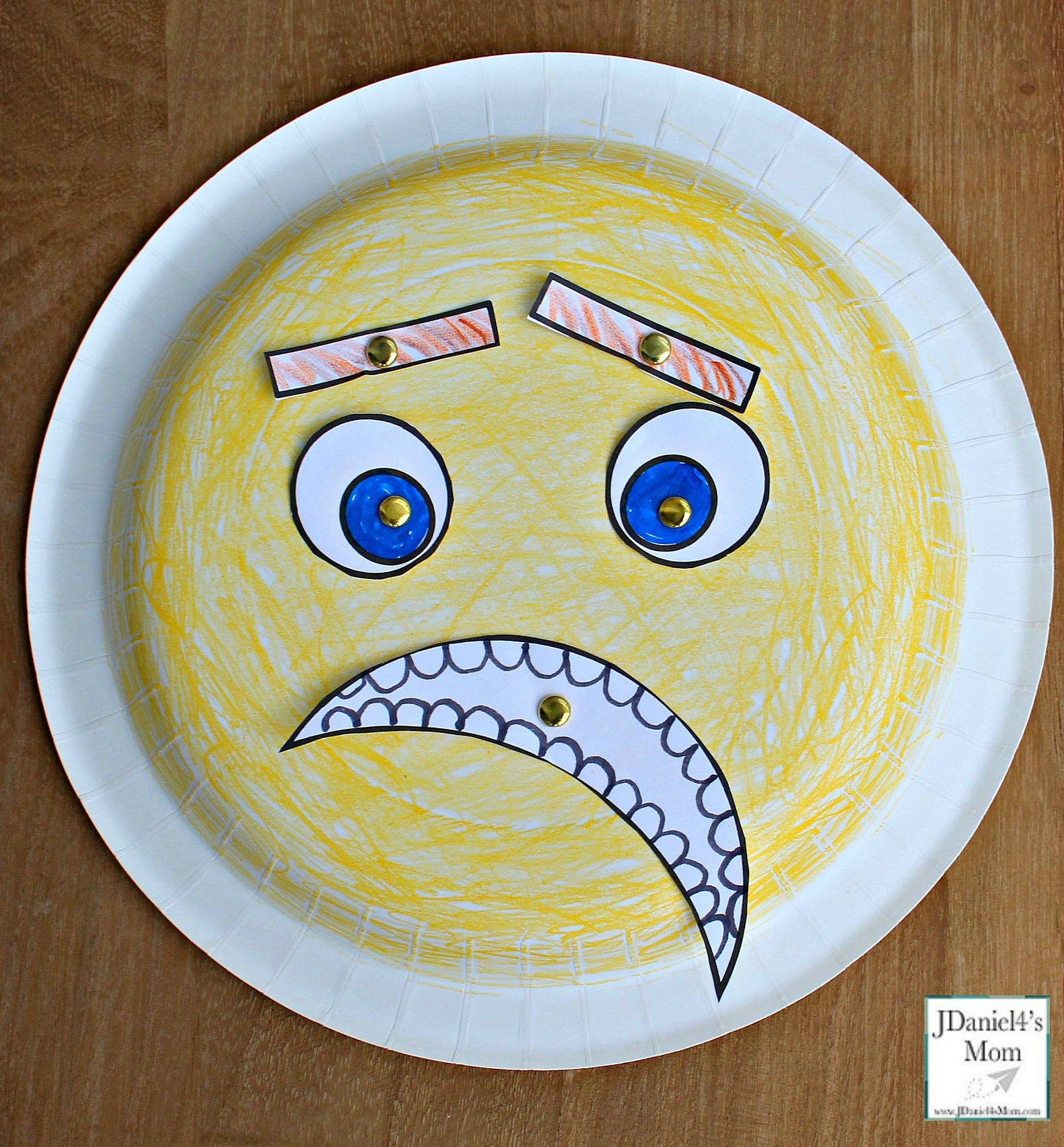 Emoji Feeling Faces Feeling Recognition Activity - The paper plate craft and activity is a fun way for children to learn and understand feelings. Children at home or students at school can learn about what each feeling looks like.